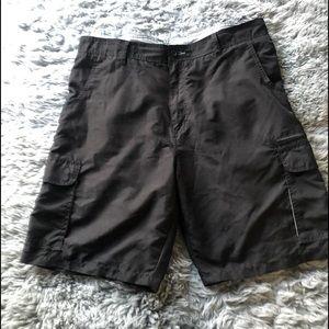 Burnside Cargo shorts size 38 Black